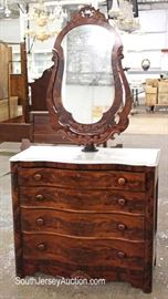 ANTIQUE Walnut Victorian Marble Top Dresser with Wishbone Swivel Mirror  Located Inside – Auction Estimate $200-$400