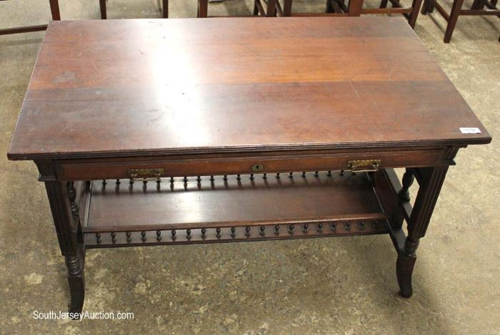 ANTIQUE Victorian Mahogany Library Desk in the Original Finish  Located Inside – Auction Estimate $100-$300