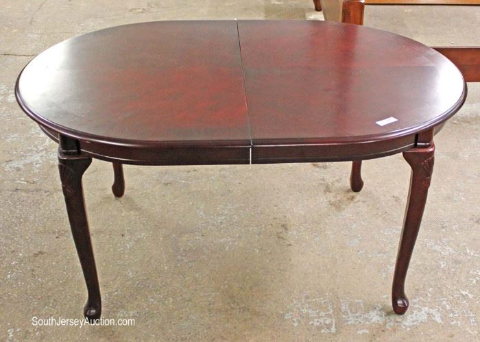 8 Piece Contemporary Mahogany Finish Queen Anne Dining Room Set  Located Inside – Auction Estimate $200-$400