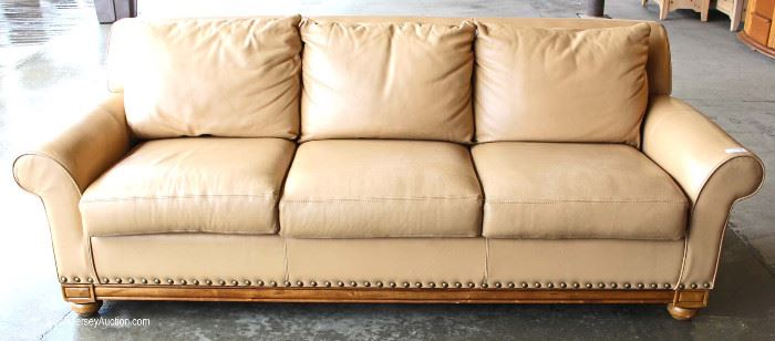 Contemporary Leather Sofa  Located Inside – Auction Estimate $200-$400