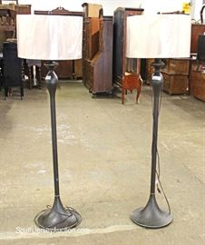 PAIR LIKE NEW Contemporary Pole Lamps  Located Inside – Auction Estimate $50-$100