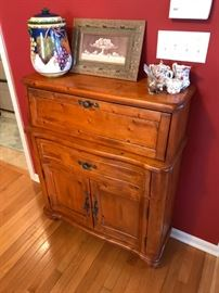 UNIQUE STORAGE CABINET WITH DROP DOWN DRAWER