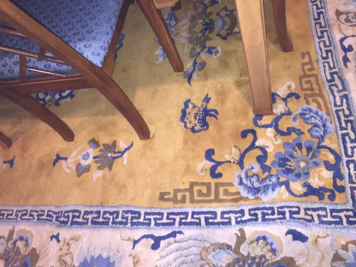 Chinese Wool Carved Rug