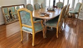 Widdicomb table and ten chairs