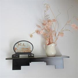 Oriental shelf and decor