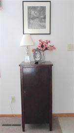 Antique music cabinet.