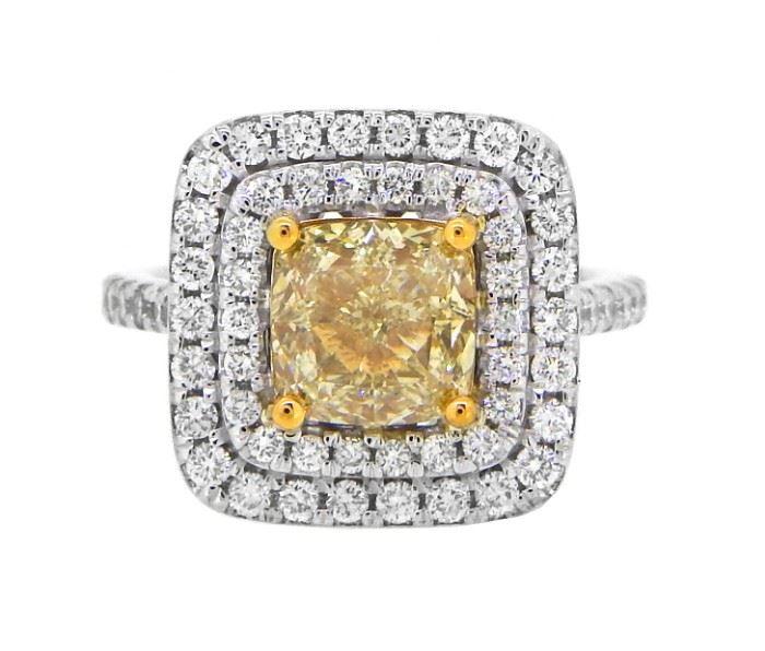 GIA 4CT Fancy Yellow Diamond Ring