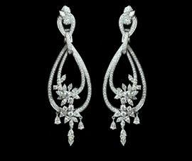Diamond Dangling Earrings