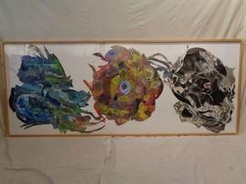 Sandra C. Fernandez large mixed media collage