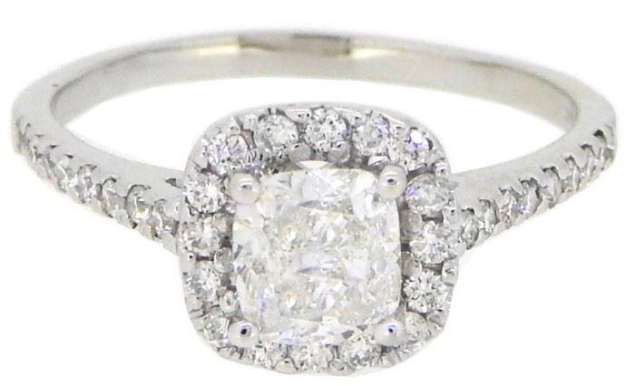 GIA 1.2CT Diamond Solitaire Ring 18K