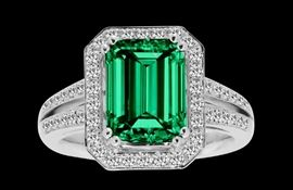GIA Colombian Emerald Ring