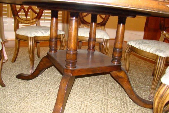 Pedastal of table
