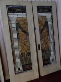 Super Antique Stain Glass Doors !