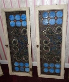 Antique Stain Glass W/ Jewels