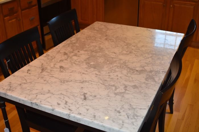 Pottery Barn  Avon Marble Top Dining Table