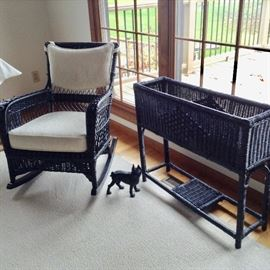 Nice Wicker set (black)