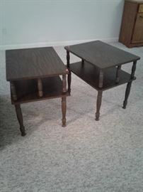 Sturdy matching end tables excellent condition