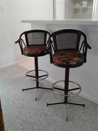Bar stools are adjustable and excellent condition