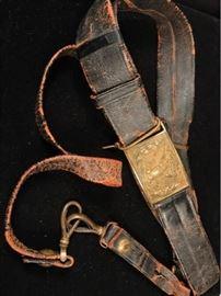 Civil War Officers Belt Buckle  Sword Hanger
