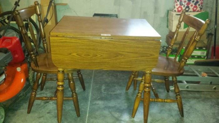 Drop Leaf Table and 2 Matching Chairs