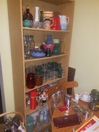 Canning jars, vases nad dishes