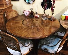 dining table with lazy susan