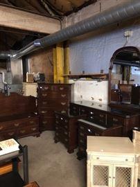 large wood bedroom set