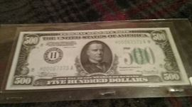 OVER 350 US CURRENCY BILLS AND COINS