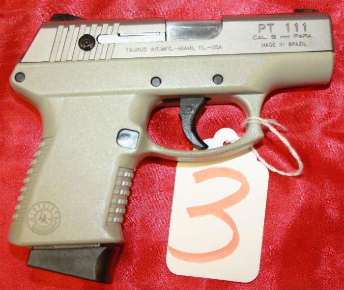 3 - Taurus Model PT11 9 mm Pistol