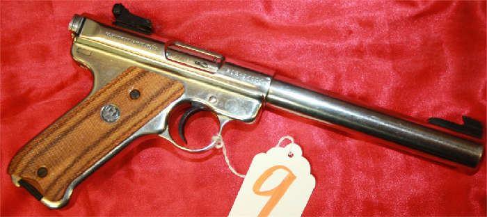 9 - Ruger Model MKII Target 22 cal Pistol