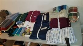 lots of towels and bedding