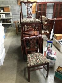 6 vintage Cherry chairs