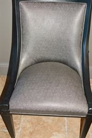 Parker Southern Armless Bronze-Looking Leather Side Chairs (6).