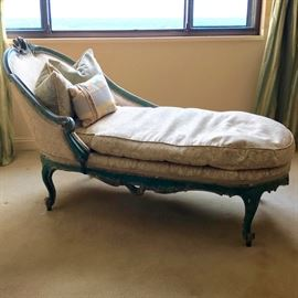 19th Century French Rococo Down Chaise
