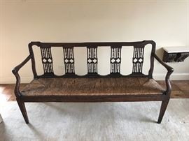 Early 19th Century Fruitwood Bench