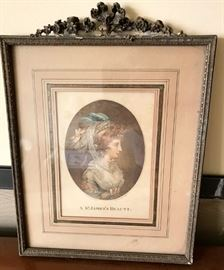 French antique print