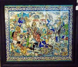 Tile Panel, 18th Century Iran, ExAnavian Gallery