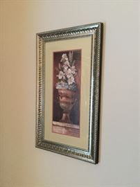Framed print throughout