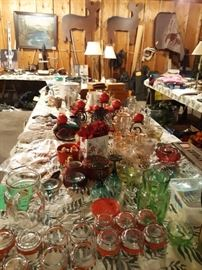 Holiday glasswear and many hoshold items!