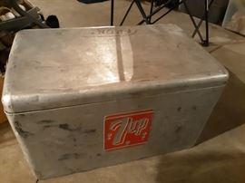 Antique 7up cooler