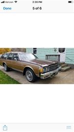 1979 impala estate wagon, all original ,350 motor, 60,000 miles, never been in bad weather