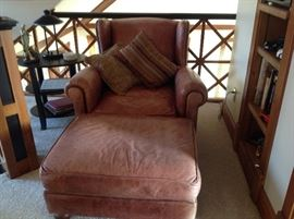Very comfy leather chair & ottaman