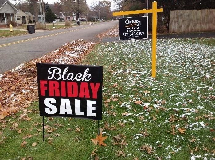 Look for Black Friday Sale sign