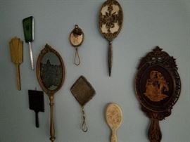 Hand mirror collection.