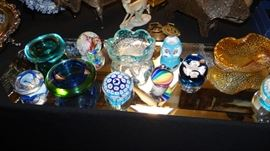 Paper Weights  & Murano Bowls