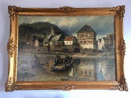 Hermann Schnee, 1840-1926, oil on canvas, 45x30