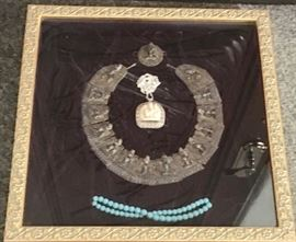 Framed Collar, Pendant and Beads