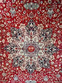 """Grand Size 18'-8"""" x 12'-2"""", Sino-Persian Rug, Center Medalion (detail)"""