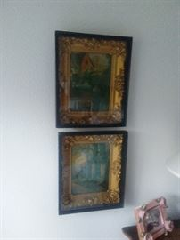 Pair of Clossons Art Gallery Framed Paintings