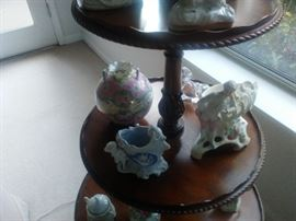 Collection of bisque porcelain.